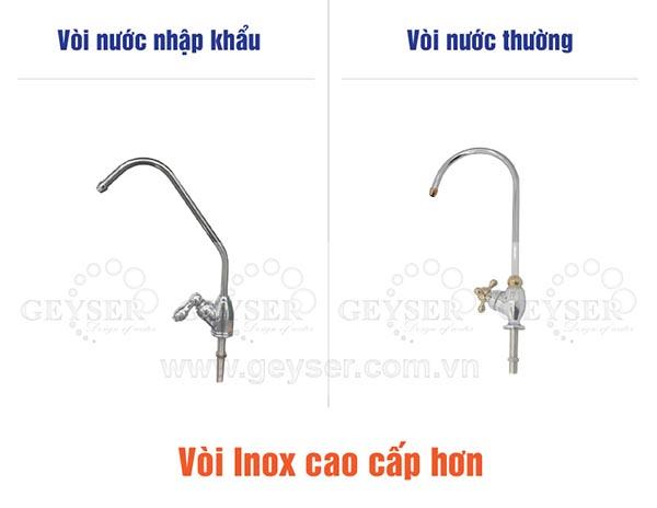 Vòi innox nhập khẩu của máy lọc nước ecotar 3