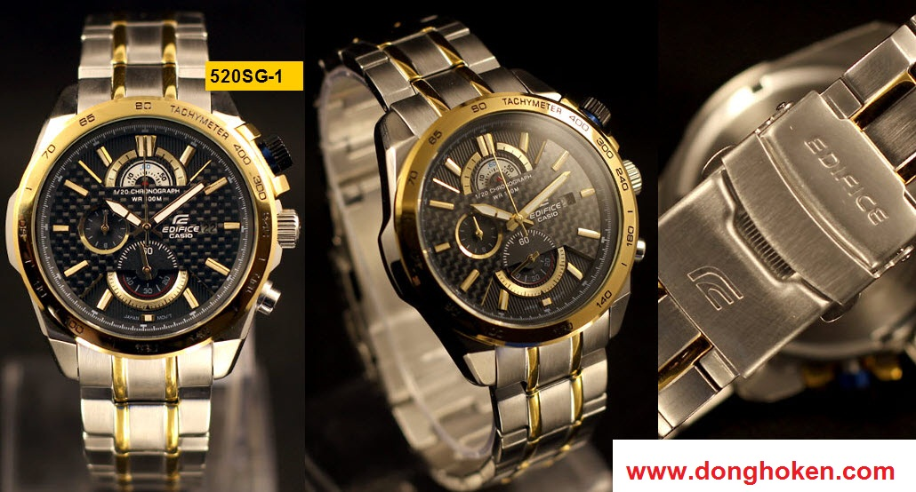 đồng hồ nam casio nam 520sg-1av, www.donghoken.com
