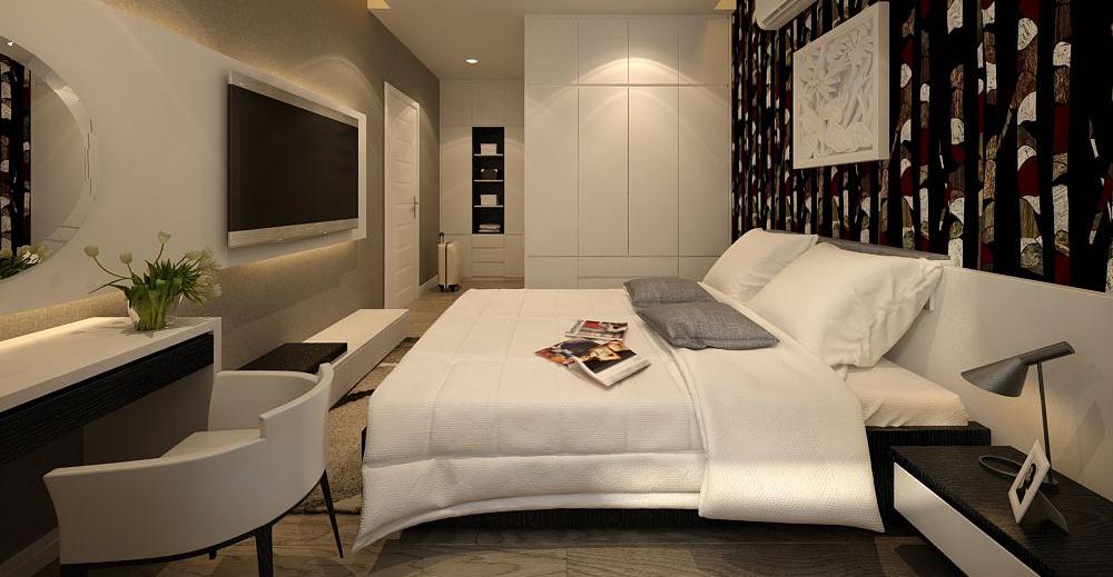 Phòng ngủ chính nhà Anh Khuê - The Manor Hà Nội