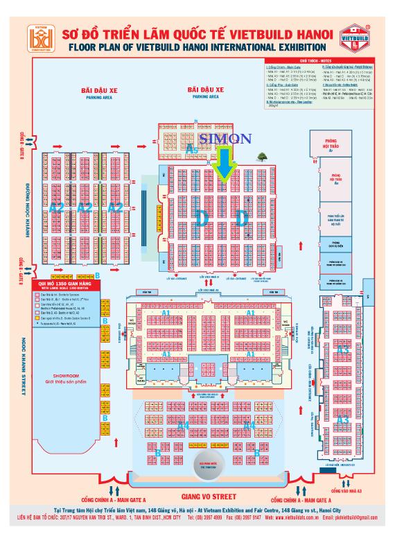 Sơ đồ triển lãm quốc tế Vietbuld Hà Nội 2015