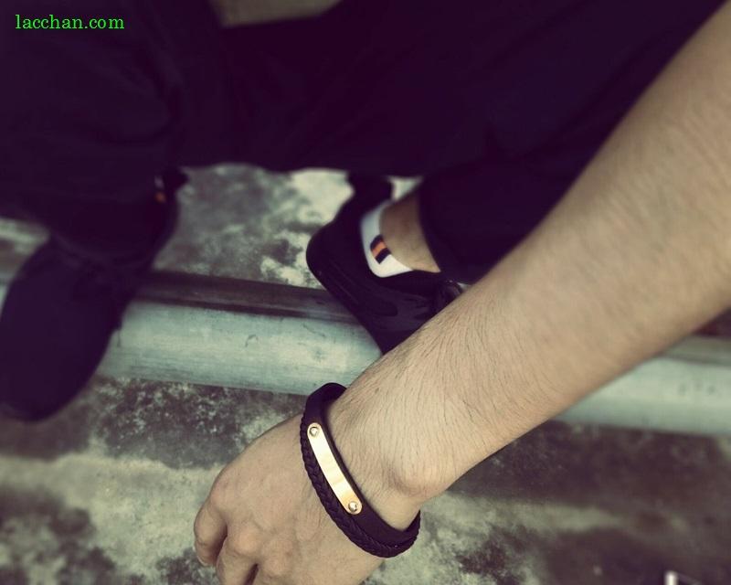 Vòng tay da phong cách-02