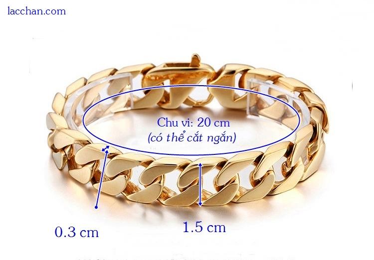 Lắc tay mạ vàng 18k nam-01