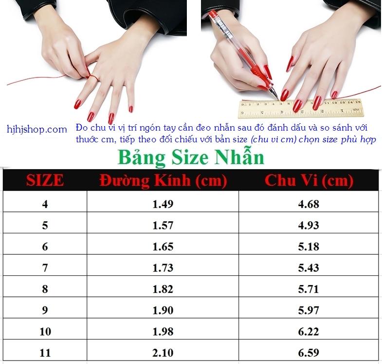 hướng dẫn đo size nhẫn