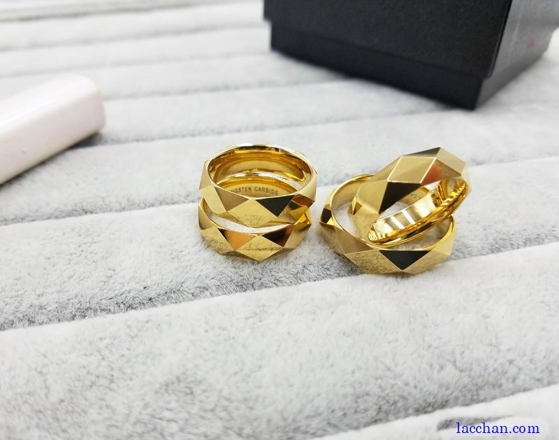 Nhẫn vonfram mạ vàng-05