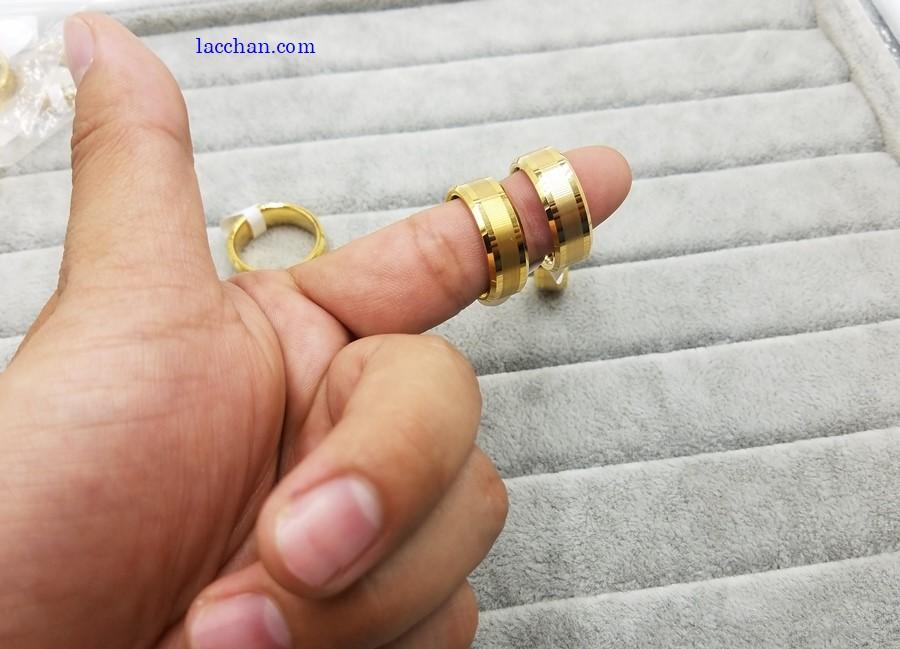 Nhẫn vonfram nam mạ vàng-04