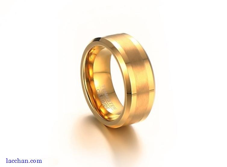 Nhẫn vonfram nam mạ vàng-07