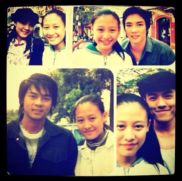 Linh và Dan – thành viên nhóm nhạc lừng danh Thái Lan D2B (ảnh dưới, bên trái)