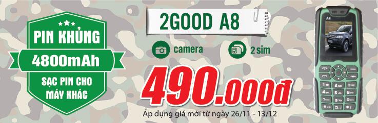 Điện thoại 2GOOD A8