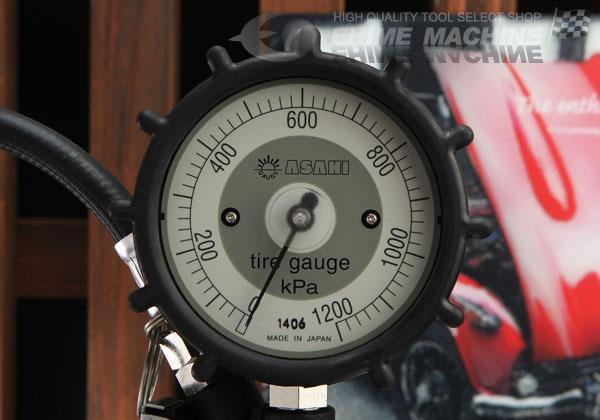 Đồng hồ bơm lốp nhập khẩu, Asahi Nhật, AG8012-3, dải đo 50-1200kPa, thang đo 20kPa,