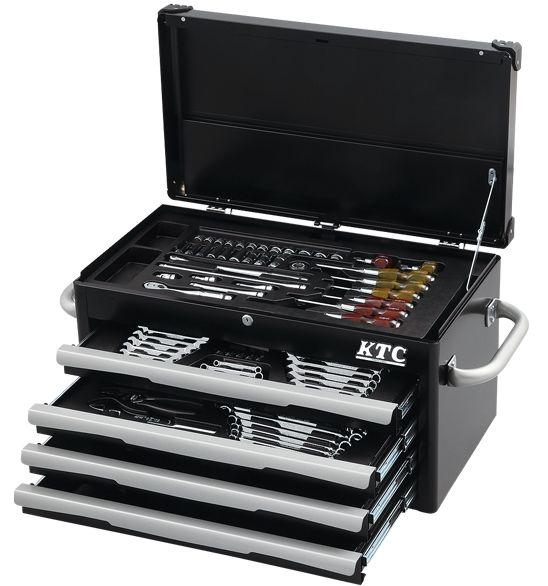 Bộ dụng cụ với hộp đựng 4 ngăn kéo, NTX8700BK, NTX8700R