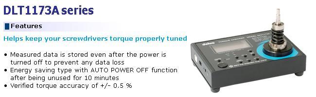 Delvo DLT1173A, máy cân chỉnh lực xiết dùng cho tô vít lực, máy cân chỉnh lực 0.015-1.5Nm,