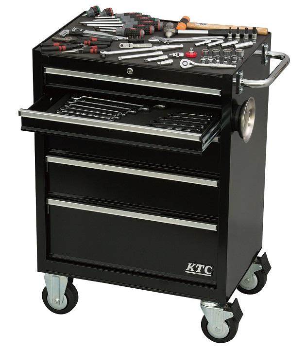 Xe dụng cụ 5 ngăn kéo, xe dụng cụ 5 ngăn màu đen, SKX3805