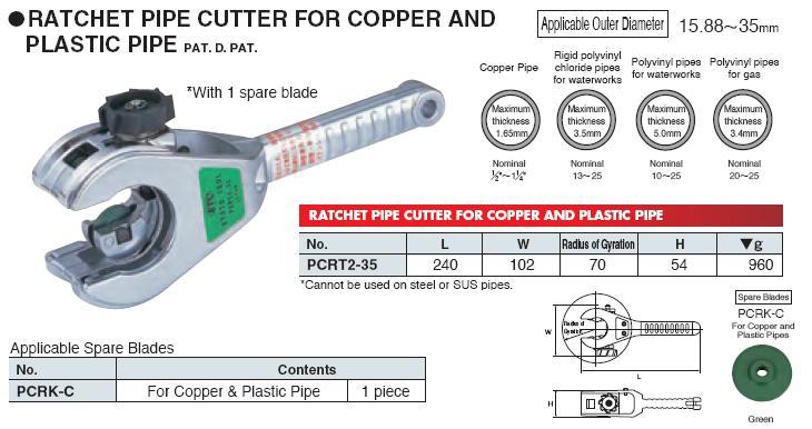 Dao cắt ống, dụng cụ làm ống KTC, KTC PCRT2-35, dao cắt ống thép, An Khánh