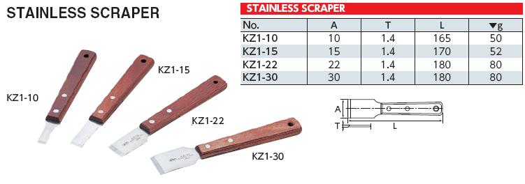 Scraper, dao cạo gioăng KTC, KZ1-10 KTC, dao cạo gioăng Nhật