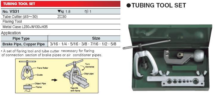 Bộ dụng cụ làm ống, KTC, Plumbing Tools, VS31 KTC, An Khánh cung cấp