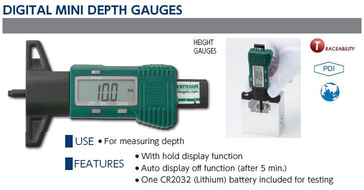 Thước đo gai lốp, thước đo độ sâu gai lốp, Niigata Seiki, thước đo gai lốp Nhật