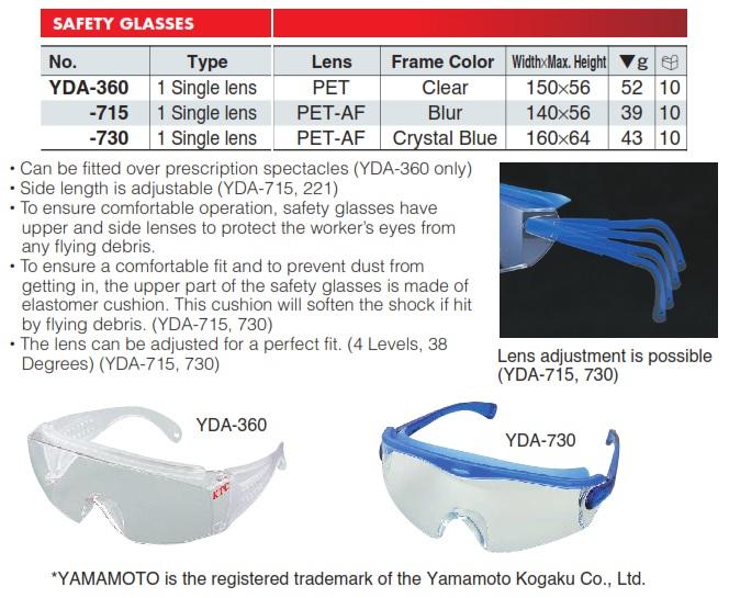 Kính bảo hộ KTC Nhật, KTC YDA-360, kình bảo vệ, YDA-360, YDA-715