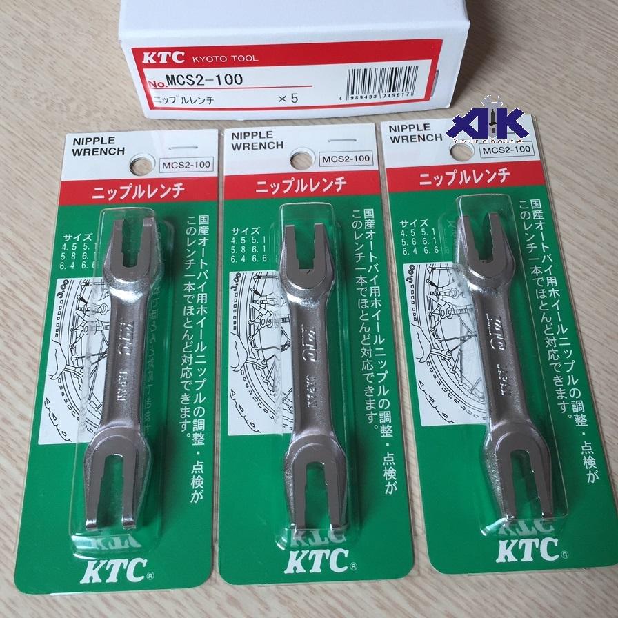 Cờ lê vặn nan hoa, KTC MCS2-100, MCS2-100, vặn nan hoa, 4.5 đến 6.6mm
