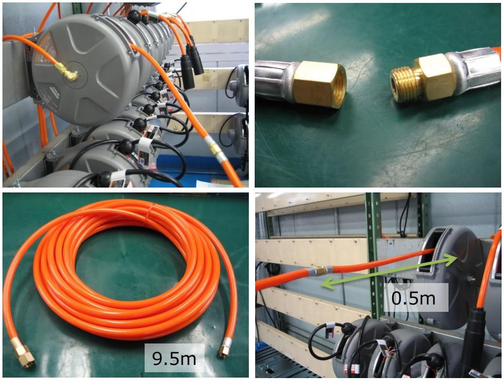 Cuộn ống hơi Sankyo, SHS-210Z Triens, SHS-210Z Sankyo, cuộn ống hơi tự rút 10m