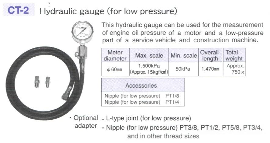 Đo áp suất động cơ, đồng hồ đo áp suất, áp suất 1.500KPa, đo áp suất động cơ