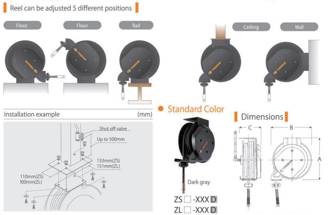 Cuộn dây khí dòng Z, ZSA-408, cuộn ống dây khí, cuộn ống hơi