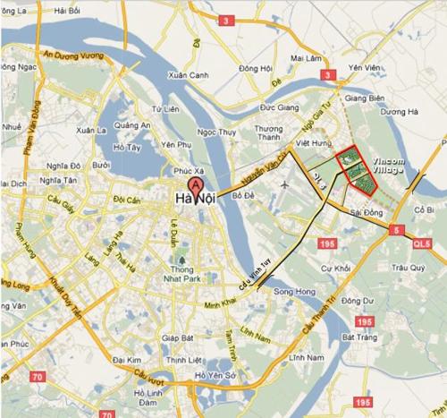 bản đồ vinhomes riverside