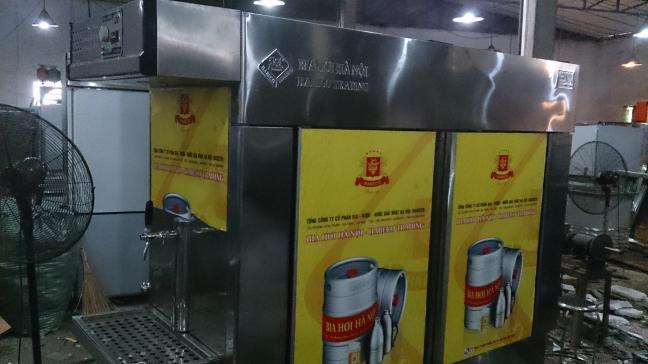 máy bia, thiết bị lạnh phục vụ cho các nhà hàng, quán nhậu