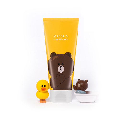 Kết quả hình ảnh cho Flower Bouquet Cleansing Foam 150ml - May Lily [ Line Friends Edition ]