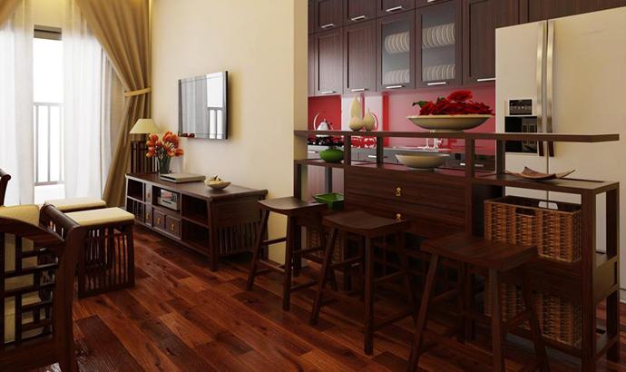 Kệ ti vi gỗ đẹp phong cách grand bois
