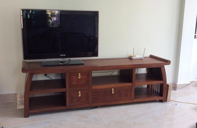 kệ ti vi gỗ hiện đại phòng khách phong cách grand bois