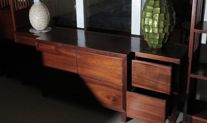 Kệ tivi gỗ gụ, gỗ hương đẹp hiện đại