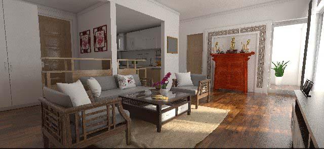 đồ gỗ nội thất phòng khách phong cách grand bois