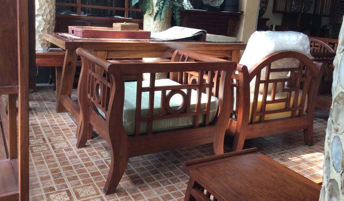 sofa gỗ tự nhiên gỗ gụ