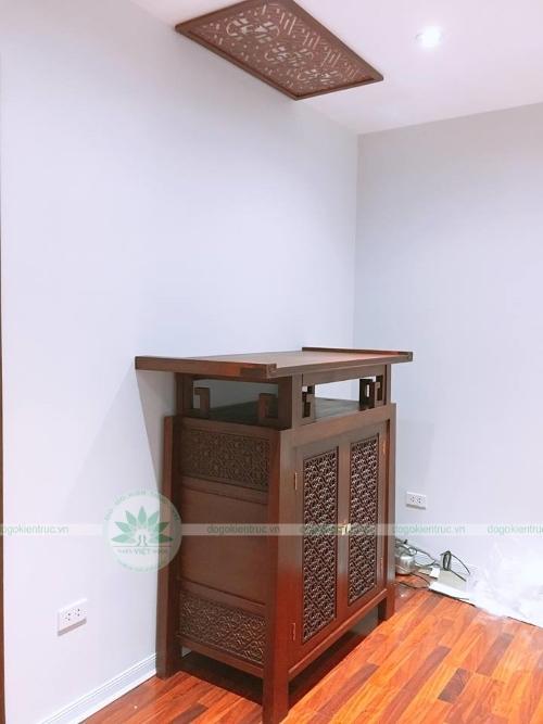 Tủ thờ gỗ gụ hiện đại