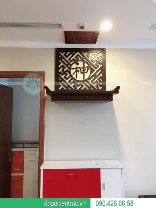 Bàn thờ treo gỗ gụ hiện đại