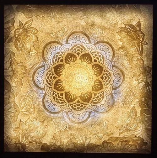 Tranh phòng thờ họa tiết Mandala