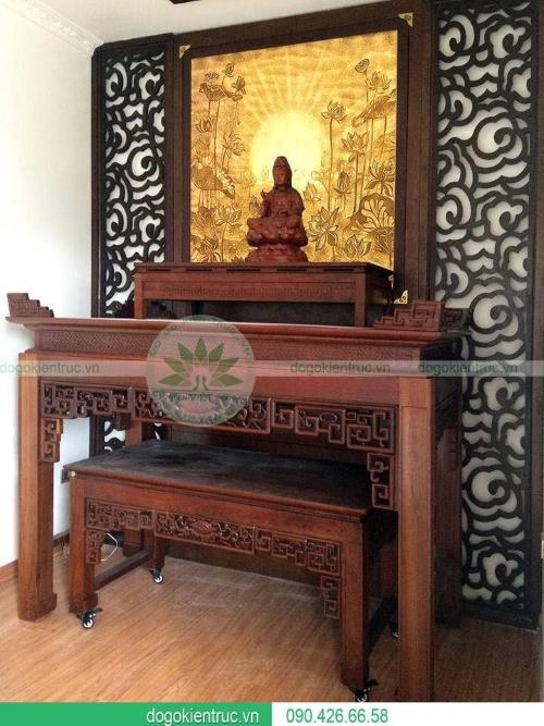 Mẫu bàn thờ biệt thự cao cấp