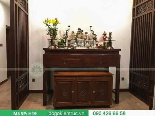 Mẫu bàn thờ biệt thự hiện đại