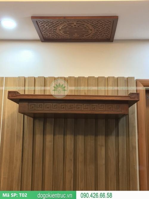 mẫu bàn thờ treo đẹp hiện đại 2