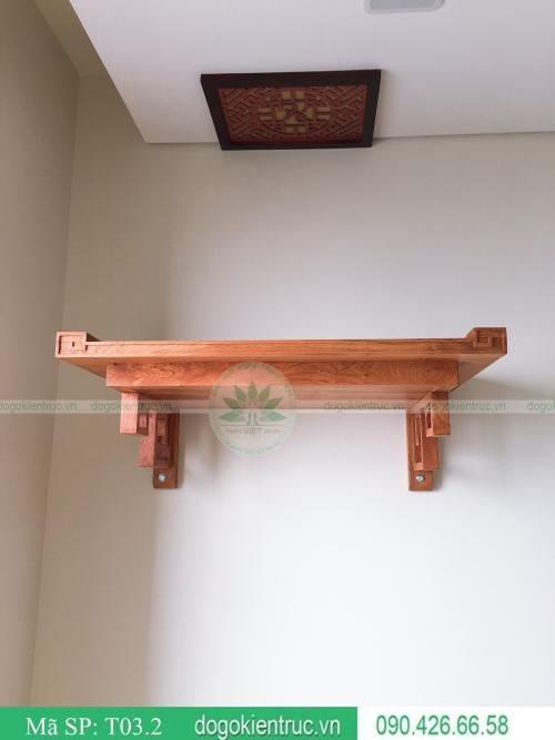 mẫu bàn thờ đẹp hiện đại gỗ hương cao cấp