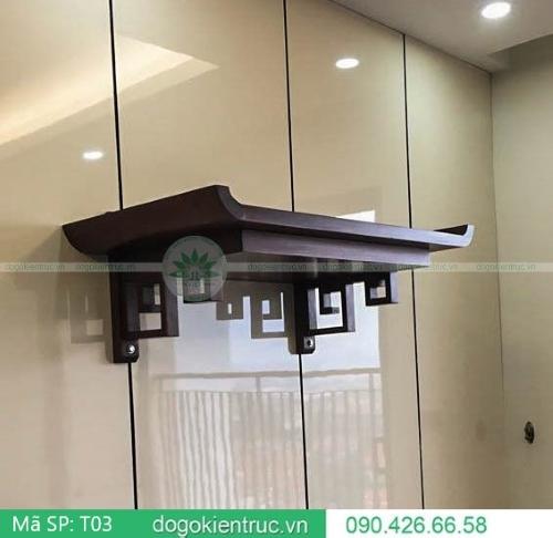 mẫu bàn thờ treo đẹp hiện đại