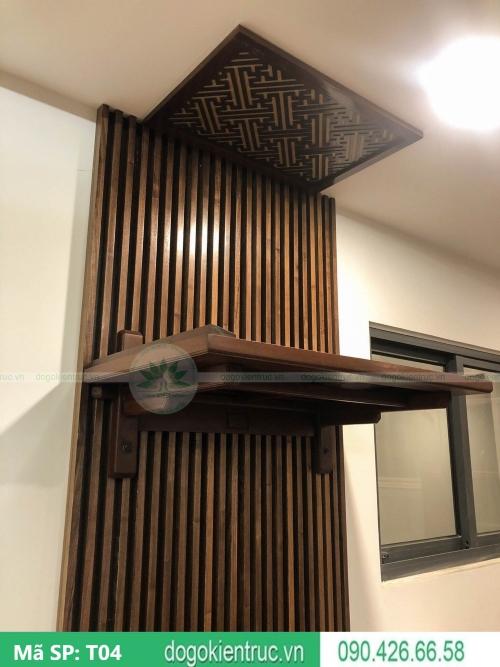 mẫu bàn thờ treo chung cư hiện đại