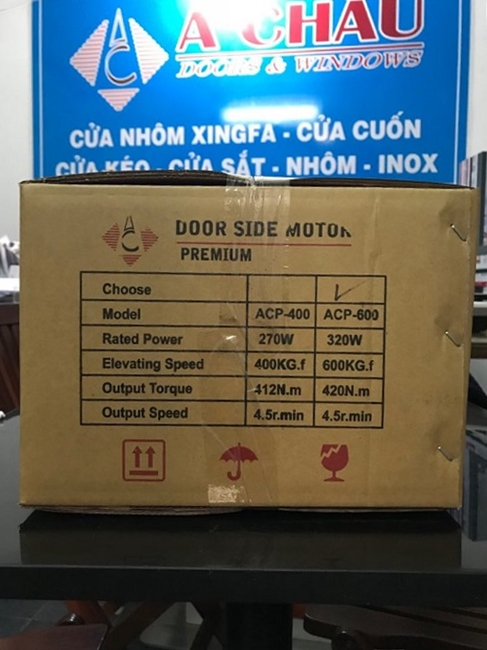 thông số motor cửa cuốn Á Châu Premium