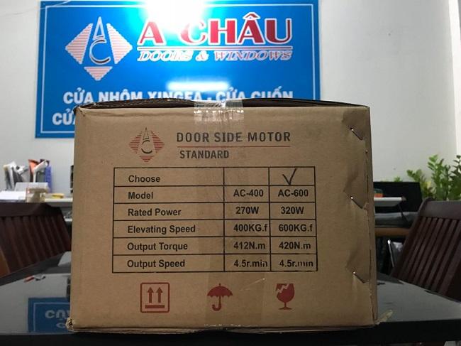 thông số kỹ thuật motor cửa cuốn Á Châu Standard