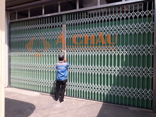 Hình hoàn thiện công trình cửa kéo Đài Loan tại HCM