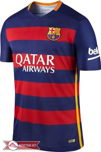 áo bóng đá Barca sân nhà 2015 - 2016