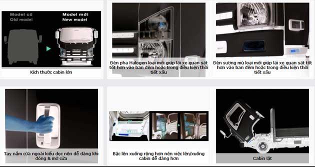 ngoại thất xe tải isuzu NQR75L 5T5 ngắn