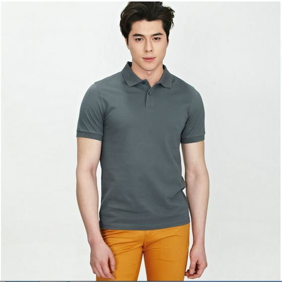 áo thun, áo phông công sở nam màu ghi cao cấp