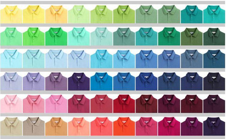 bảng màu áo thun, áo phông công sở