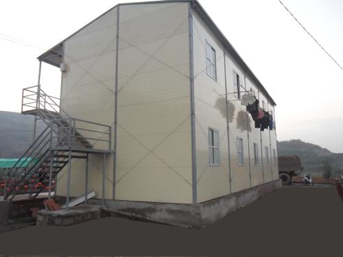 nhà lắp ghép 2 tầng